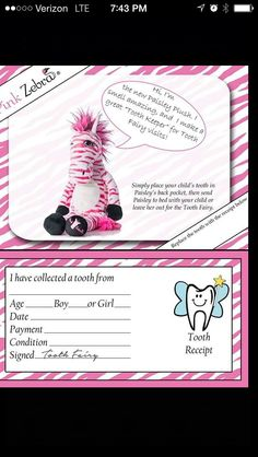 Pink zebra plush with a pocket in back Pinkzebrahome.com/melinda