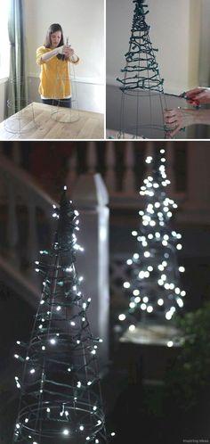 Diy Christmas Yard Decor - Diy Christmas Yard Decor, 30 Amazing Diy Outdoor Christmas Decoration Ideas for Diy Christmas Yard Decorations, Diy Christmas Lights, Noel Christmas, Christmas Crafts, White Christmas, Outdoor Decorations, Outdoor Trees, Christmas Music, Beautiful Christmas