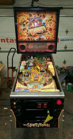 THE FLINTSTONES PINBALL MACHINE!  YABBA DABBA DOO! GREAT FAMILY GAME!*L@@K!* - http://collectibles.goshoppins.com/arcade-jukeboxes-pinball/the-flintstones-pinball-machine-yabba-dabba-doo-great-family-gamelk/
