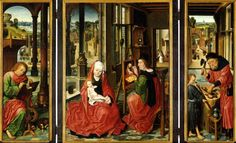 Under-twisted Mirror of Derick Baegert – Art Mirrors Art Robert Campin, Gerard David, North Rhine Westphalia, Mirror Art, Mirrors, Classic Paintings, Catholic Art, Renaissance Art, Madonna