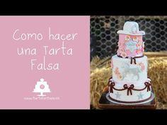 Como hacer una Tarta Falsa - YouTube