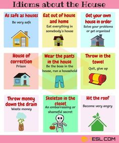 Idioms about the House