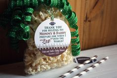 Football Baby Shower - Ready to POP!  Party Favor idea - Personalized gift tags