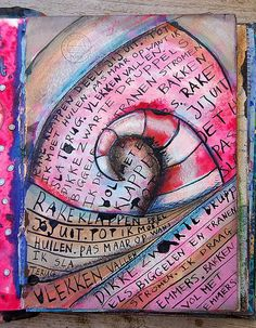 Art Journaling by Marieke Jongenelen-Blokland.  (gives me an idea to combine journaling with zentangling