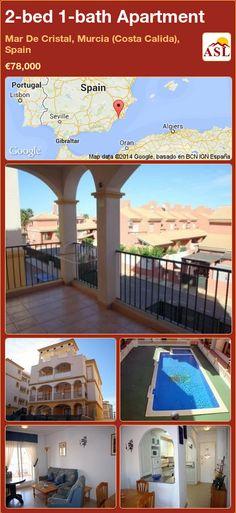 2-bed 1-bath Apartment in Mar De Cristal, Murcia (Costa Calida), Spain ►€78,000 #PropertyForSaleInSpain