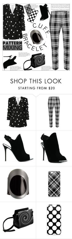 """Pattern Mixing"" by atelier-briella ❤ liked on Polyvore featuring Monse and Giuseppe Zanotti"