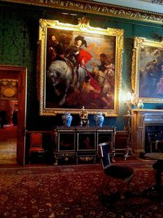 Windsor Castle. Humphries weaving supplied a green silk and cotton damask for the restoration of the King's Drawing Room walling. www.humphriesweaving.co.uk