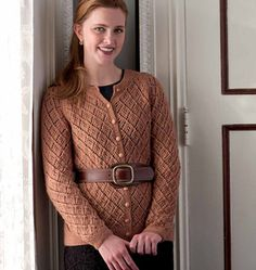 """I love the look of vintage allover lace cardigans from the 1950s and 1960s, but the instructions often seem so vague. In those days, many patterns provided just a stitch repeat and instructions to """"keep in pattern"""" while working armhole, neck, and sleeve shaping instead of writing out row-by-row instruc-tions. It struck me one day that if I charted the increases and decreases just as I would for a shawl, I'd be able to visualize how the shaping affects the lace pattern. Suddenly, all those…"""