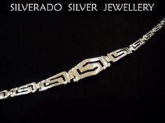 Sterling Silver 925 Greek Gradual Eternity Meander Key Fine Bracelet  18.5 cm - 7.21 inches on Etsy, 30,00 €