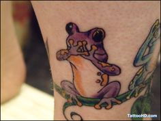 Image detail for -cartoon frog tattoos , Frog Tattoos