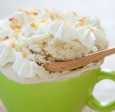 Triple Coconut Mug Cake   Kirbie's Cravings   A San Diego food & travel blog