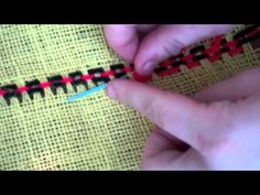 Burlap Weaving # 5: Add Beading to the Weaving