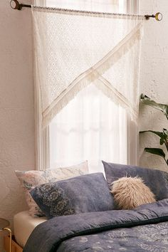 Crochet Fringe Window Valance - Urban Outfitters
