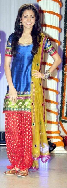 Anushka Sharma Style Patiyala Punjabi suit