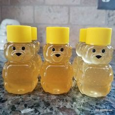 The cuteness is not lost on me after filling these mini honey bears with our own honey. #honeybears #backyardgarden #backyardbees #tsaapproved #fb