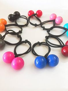 Small Ponytail   Ball Hair Ties   Hair Ties   Ponytail Holders   Stocking  Stuffer   f258d4d5616