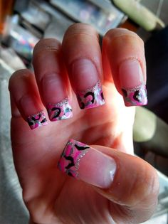pink camo nail designs | Pink Camo