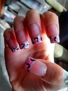 pink camo nail designs   Pink Camo