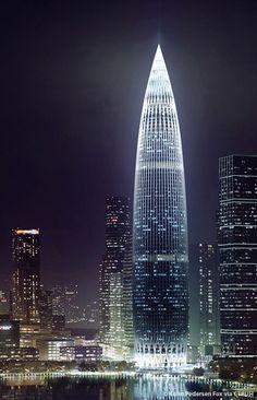 China Resources Headquarters, Shenzhen-China, 392.5 m, UC, architect-Kohn Pedersen Fox Associates. http://www.skyscrapercenter.com/building/china-resources-headquarters/14589