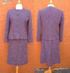 Vintage Purple Tweed Suit by Guy Laroche Paris