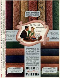 Holmes Wilton Broadloom 1940s ad for carpet