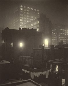 From the Back Window, 1915 by Alfred Stieglitz Close friend of Georgia O'Keefe Edward Steichen, Alfred Stieglitz, National Gallery Of Art, New York Photos, Old Photos, Vintage Photos, Nocturne, Vintage Photography, Art Photography