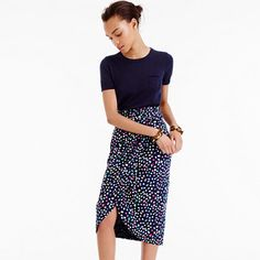 I love this fun colorful print skirt. Great wrap around detail. Tulip skirt in Ratti® Happy Cat print