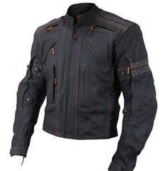 Vulcan Jacket  (VTZ-910 Motorcycle Leather Jacket, Men's Pre-owned Designer Streetbike Coat)