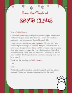 In manyhomes, tradition calls for kids to leave milk and cookies for Santa Claus on Christmas Eve. Santa also knows all about food allergies and wants your kids to help him spread some cheer! You ...