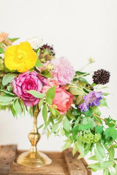 Summer flower ideas by Amy Osaba Events | Photo by Haley Sheffield | 100 Layer Cake