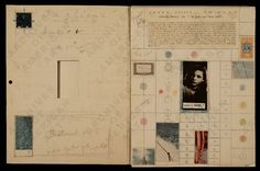 """AVSM: Anything Joseph Cornell does, we want to know about it. (Joseph Cornell's study for """"Penny Arcade Portrait of Lauren Bacall, Joseph Cornell, Lauren Bacall, Artist Sketchbook, Sketchbook Inspiration, Clip Art, Assemblage Art, Japanese Prints, Book Journal, Altered Books"""