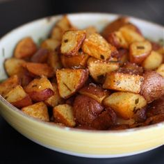 Roasted Red Potatoes - 8 large red potatoes, skin on      1/2 teaspoon smoked paprika      1/2 teaspoon garlic powder      3 tablespoons olive oil      2 teaspoons chopped fresh chives      big dash of kosher salt and fresh ground pepper
