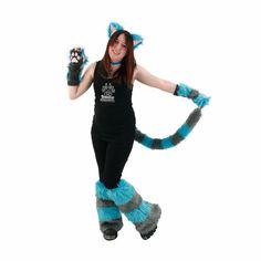 Cette liste est pour un plaisir artisanal officiel, fourrure renard PAWSTAR 4 pièces Cheshire cat combo ! Comprend bandeau, queue, patte jambières et