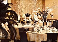 WedLuxe– Gilded Black Details | PHOTOGRAPHY BY: JONETSU STUDIOS Follow @WedLuxe for more wedding inspiration!