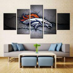 wall ideas decorating denver home broncos decor