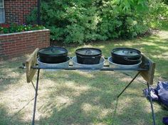 Dutch Oven Table Think I can get the hubby to make me one????