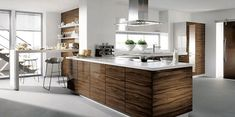 Modern kitchen design with island.