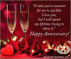 Send Beautiful collection of wedding anniversary quotes to your love.