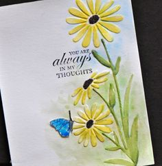 69 Ideas Birthday Greetings For Mom Embossing Folder For 2019 Birthday Greetings For Mom, Birthday Cards For Mom, Bday Cards, Making Greeting Cards, Greeting Cards Handmade, Scrapbooking, Scrapbook Cards, Butterfly Cards, Flower Cards