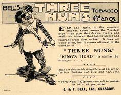 1903 Ad J & F Bell Three Nuns Tobacco & King's Head - ORIGINAL ADVERTISING TSM2