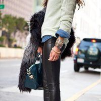 Faux Leather Leggings - $120