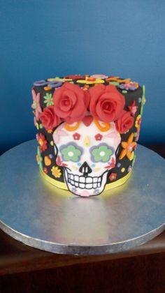 Calavera cake gâteau tête de mort mexicaine