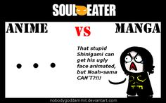 Soul Eater Anime vs. Manga : Gopher by nobodygoddammit.deviantart.com on @DeviantArt