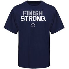 newest collection ac6c2 ff257 Dallas Cowboys Finish Strong T-Shirt - Navy Blue