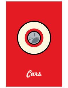 Cara [John Lasseter & Joe Ranft, 2006] «Pixar Minimalist Movie Posters Author: Adam Thompson»