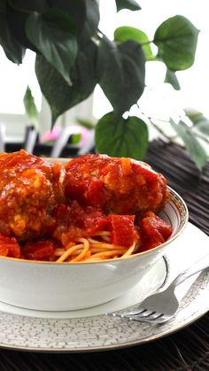 Bucca di Beppo spaghetti and meatballs