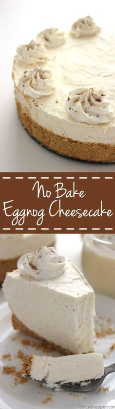 No Bake Eggnog Cheesecake - Even if you are not a fan of…