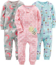 Baby Girl Clothes Simple Joys by Carter's Girls' Snug-Fit Footless Cotton Pajamas, Ballerina/Moon/Bee, 18 Months Toddler Girl Outfits, Baby & Toddler Clothing, Kids Outfits, Toddler Girls, Cute Girl Outfits, Baby Girl Pajamas, Carters Baby Girl, Baby Girls, Baby Boy