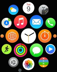 "Apple: Apple Watch: Apple、日本で「Apple Watch」のホーム画面の商標登録を出願 / Apple filing a trademark registration for the ""Apple Watch"" home screen in Japan."