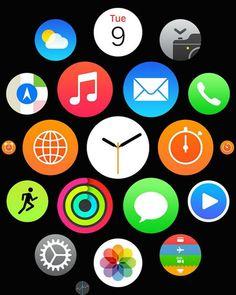 "Apple: Apple Watch: Apple、日本で「Apple Watch」のホーム画面の商標登録を出願 / Apple filing a trademark registration for the ""Apple Watch"" home screen in Japan."